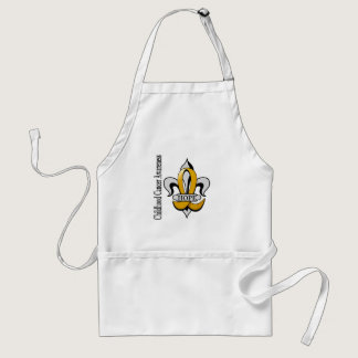 Fleur De Lis Childhood Cancer Hope Adult Apron