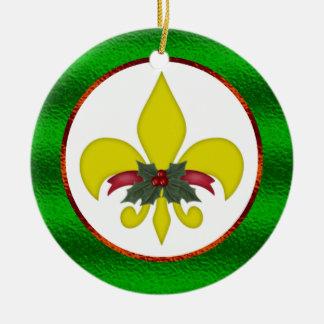 Fleur-de-Lis Christmas Christmas Tree Ornaments