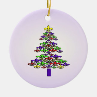 Fleur de Lis Christmas Tree Ornament