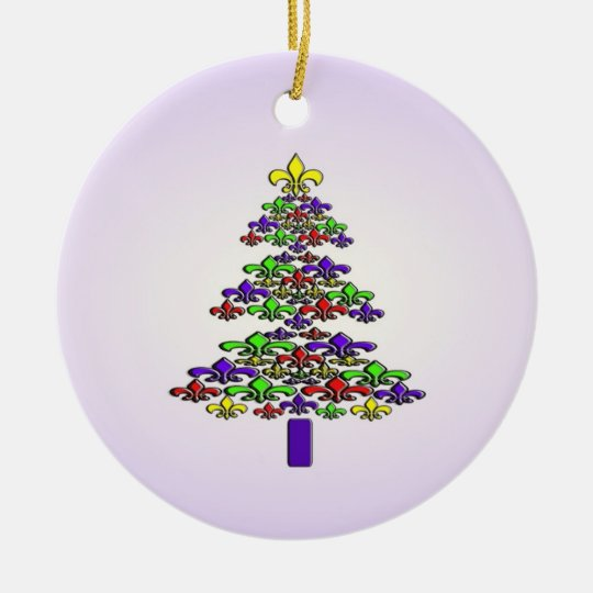 Fleur de Lis Christmas Tree Ornament | Zazzle.com