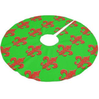 Fleur de Lis Christmas Tree Skirt