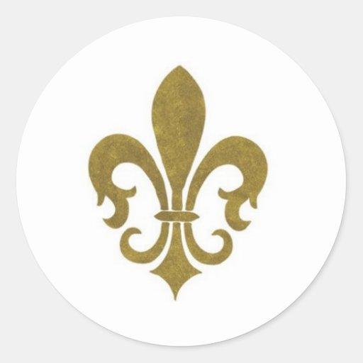 Fleur De Lis Classic Round Sticker Zazzle