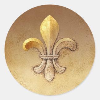 Fleur-de-lis Classic Round Sticker