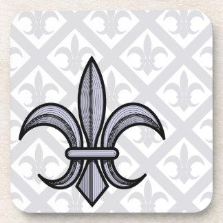 Fleur-de-Lis Coasters (silver)