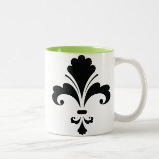 Fleur de lis; Cool Two-Tone Coffee Mug