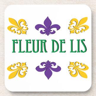 Fleur de Lis Drink Coasters