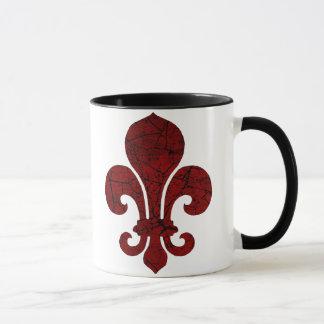 fleur-de-lis-cracked_red mug