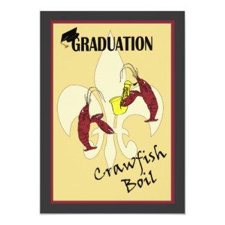 Fleur de Lis Crawfish Boil Graduation Invitation