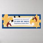 Fleur de Lis Crawfish Graduation Banner Print