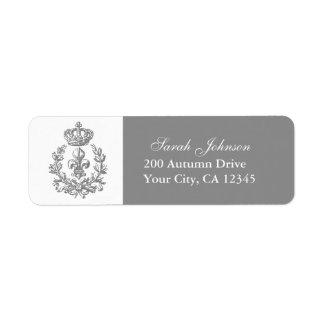Fleur-de-lis, Crown and Wreath Label