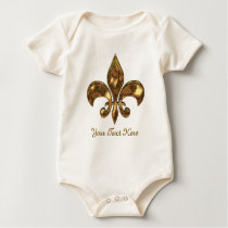 Fleur-de-lis Customizable for Baby Baby Bodysuit
