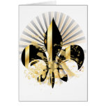 Fleur de Lis, customizable text Greeting Card