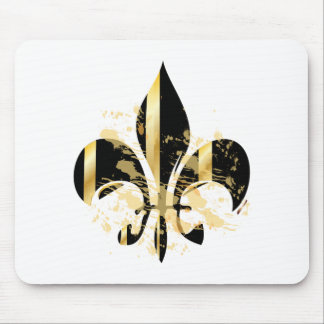 Fleur de Lis, customizable text Mouse Pads