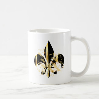 Fleur de Lis, customizable text Coffee Mug