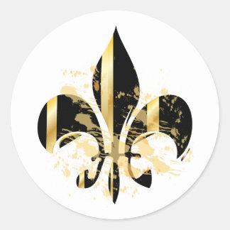 Fleur de Lis, customizable text Stickers