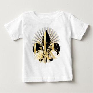 Fleur de Lis, customizable text T-shirt