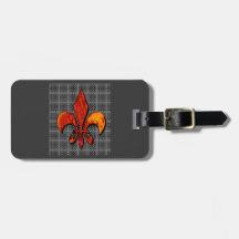 Fleur-de-lis customize it luggage tag