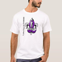 Fleur De Lis Cystic Fibrosis Hope T-Shirt