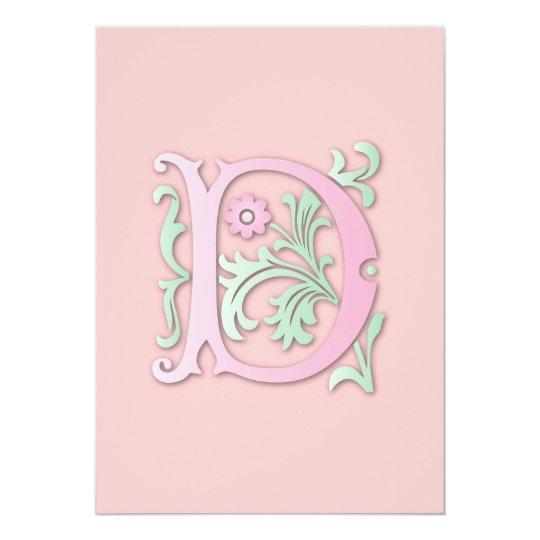 Fleur-de-lis D Monogram Card