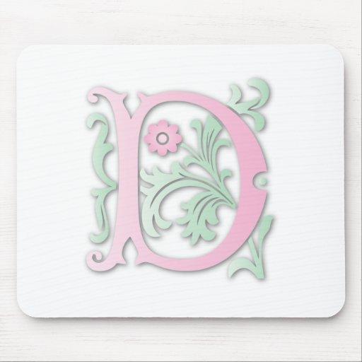 Fleur-de-lis D Monogram Mouse Pad