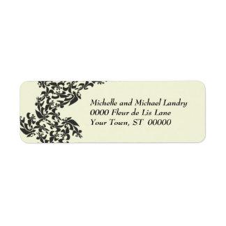 Fleur de Lis Damask Custom Return Address Label