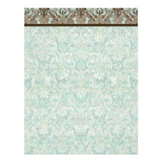 Fleur de Lis Damask - Matching Blank Stationery Custom Letterhead