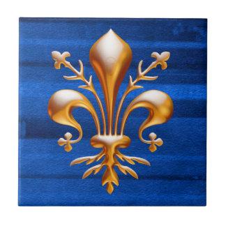 Fleur de Lis (de Lys) Ceramic Tile