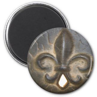 Fleur De Lis Design Fridge Magnet