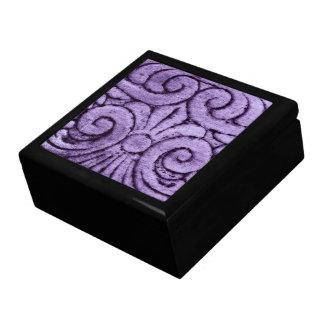 Fleur de Lis Design (Purple) Keepsake Box