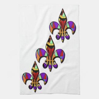 Fleur-de-lis designs towels