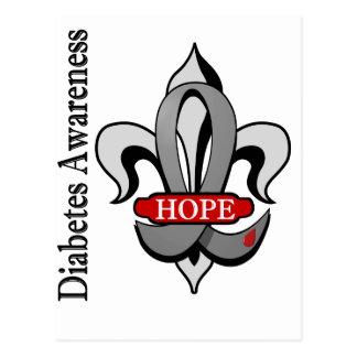 Fleur De Lis Diabetes Hope Postcard