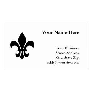 Fleur de Lis Double-Sided Standard Business Cards (Pack Of 100)