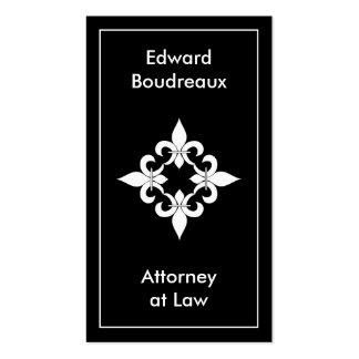 Fleur de Lis Ebony Business Cards