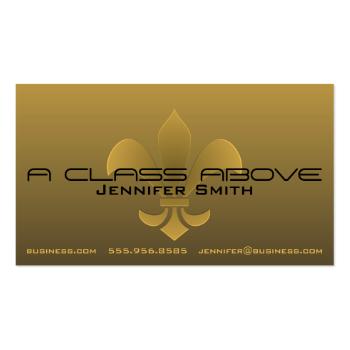 Fleur de Lis Embossed Dark Gradient Pick Any Color Business Card Template