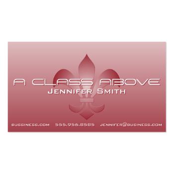 Fleur de Lis Embossed White Gradient Pick A Color Business Card