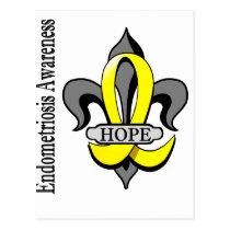 Fleur De Lis Endometriosis Hope Postcard