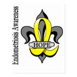 Fleur De Lis Endometriosis Hope Postcards