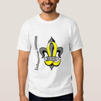 Fleur De Lis Endometriosis Hope Tee Shirt