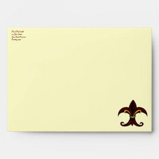 Fleur de lis envelope