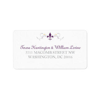 Fleur de Lis Envelope Return Address Label