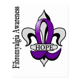Fleur De Lis Fibromyalgia Hope Postcard