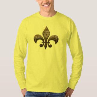Fleur De Lis Flor  New Orleans Cap Tie Shirt Best