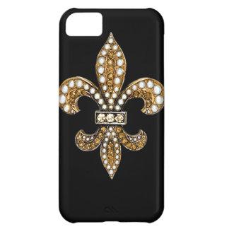 Fleur De Lis Flor  New Orleans Customize Gold iPhone 5C Cover