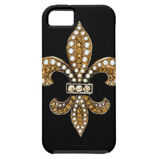 Fleur De Lis Flor  New Orleans Customize Gold iPhone 5 Cover