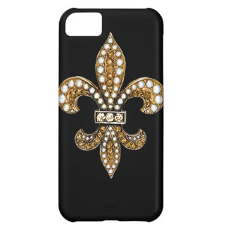 Fleur De Lis Flor  New Orleans Customize Gold Case For iPhone 5C
