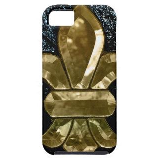 Fleur De Lis Flor  New Orleans Gold Black iPhone 5 Covers