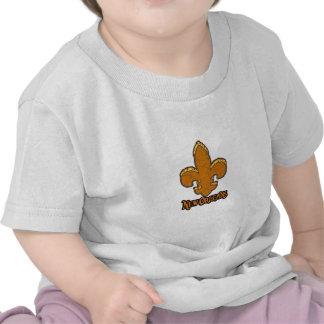 Fleur De Lis Flor New Orleans Gold Black Fire Shirts