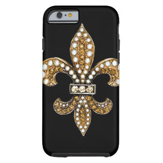 Fleur De Lis Flor New Orleans Gold Tough iPhone 6 Case