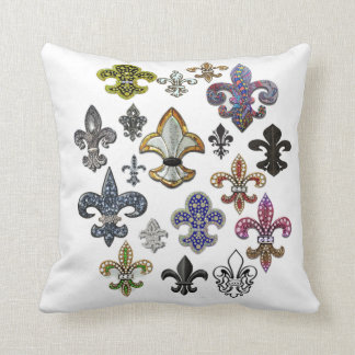 Fleur De Lis Flor  New Orleans Jewel Pillow