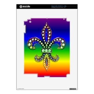 Fleur De Lis Flor  New Orleans Jewel Sparkle iPad 2 Decal
